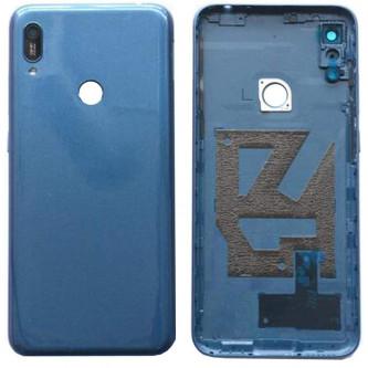 Крышка(задняя) Huawei Y6 2019 Синий (с вырезов под отпечаток)