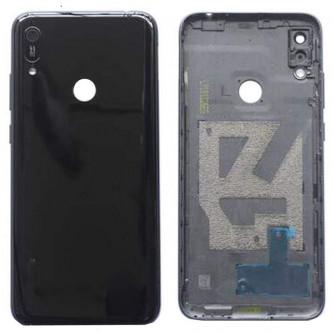 Крышка(задняя) Huawei Y6 2019 Черный (с вырезов под отпечаток)