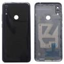 Крышка(задняя) Huawei Y6 2019 Черный (с вырезом под отпечаток)