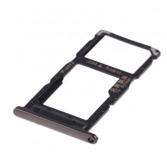 Лоток сим карты и карты памяти Huawei P Smart + (2019) Черный