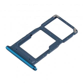 Лоток сим карты и карты памяти Huawei P Smart + (2019) Синий