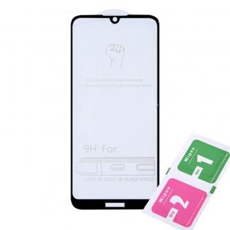 Защитное стекло (Полное покрытие) для для Huawei Honor 8A / 8A Pro / Y6 2019 Черное