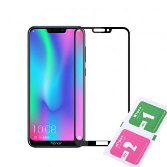 Защитное стекло (Полное покрытие) для для Huawei Honor 8C Черное