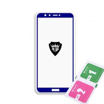Защитное стекло (Полное покрытие) для Huawei Honor 9 Lite Синее