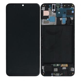 Дисплей для для Samsung A50 A505F в рамке Черный - Оригинал