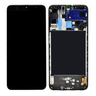 Дисплей для для Samsung A70 A705F в рамке Черный - Оригинал