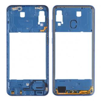 Средняя часть Samsung Galaxy A30 A305F Синяя + кнопки громкости
