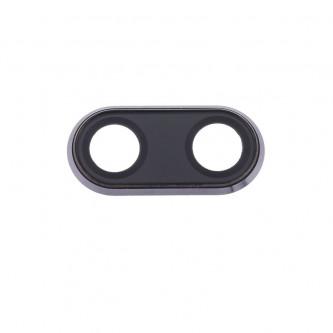 Стекло задней камеры Huawei P20 c рамкой Черное