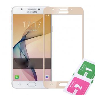 Защитное стекло (Полное покрытие) для Samsung G570F (J5 Prime) Золото