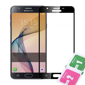 Защитное стекло (Полное покрытие) для Samsung G570F (J5 Prime) Черное