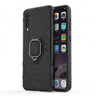 Защитный чехол - накладка для Samsung Galaxy A50 A505F / A50S A507F Черный (с магнитном для держателя и кольцом)