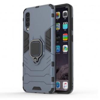 Защитный чехол - накладка для Samsung Galaxy A50 A505F / A50S A507F Синий(Navy Blue) (с магнитном для держателя и кольцом)