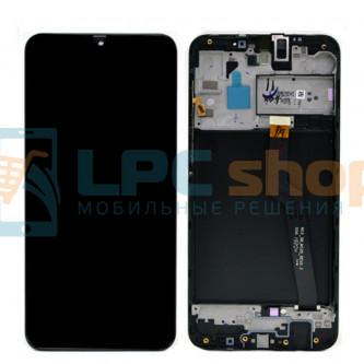 Дисплей для для Samsung A10 A105 c рамкой Черный - Оригинал