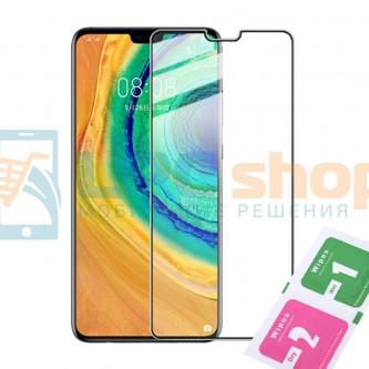 Защитное стекло (Полное покрытие) для Huawei Mate 30 Черное