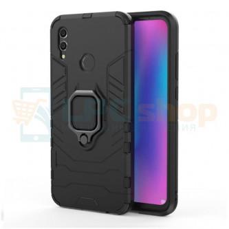 Защитный чехол - накладка для Huawei Honor 10 Lite Черный (с магнитном для держателя и кольцом)
