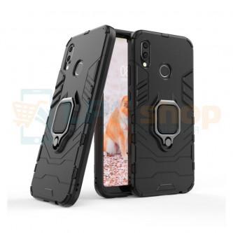 Защитный чехол - накладка для Huawei P20 Lite Черный (с магнитном для держателя и кольцом)