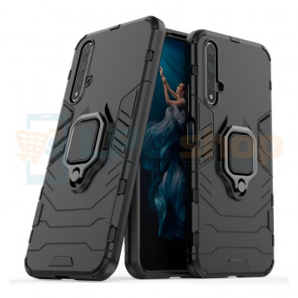 Защитный чехол - накладка для Huawei Honor 20 Черный (с магнитном для держателя и кольцом)