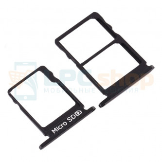 Лоток сим карты и карты памяти Nokia 5 Черный (комплект)