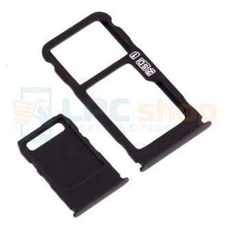Лоток сим карты и карты памяти Nokia 3.1 Plus Черный (комплект)