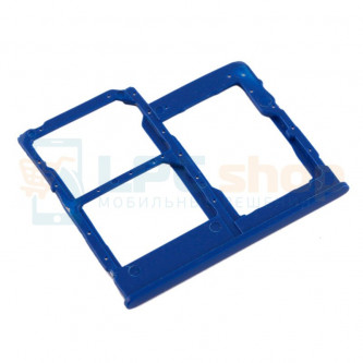 Лоток сим карты и карты памяти Samsung Galaxy A40 A405F (Dual sim) Синий