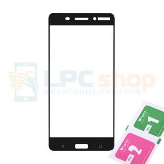 Защитное стекло (Полное покрытие) Nokia 6 Черное