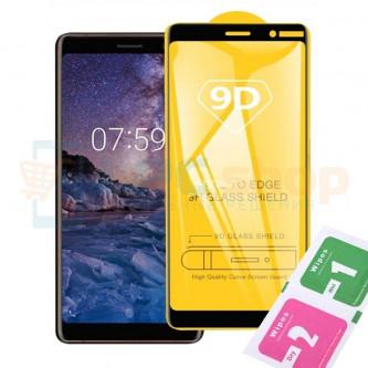 Защитное стекло (Полное покрытие) Nokia 7 Plus Черное