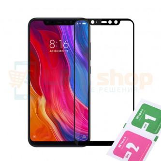 Защитное стекло (Полное покрытие) Xiaomi Pocophone F1 Черное