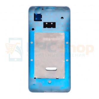 Рамка дисплея для Huawei P Smart (FIG-LX1) Белая (с проклейкой)