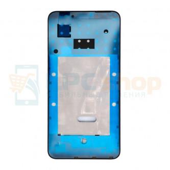 Рамка дисплея для Huawei P Smart (FIG-LX1) Черная (с проклейкой)