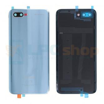 Крышка(задняя) Huawei Honor 10 Серый (Glacier Grey) со стеклом камеры (высокое качество)
