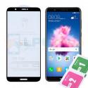 Защитное стекло (Full Screen) для Huawei P Smart (FIG-LX1) Черное (Полное покрытие)