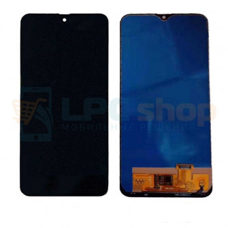 Дисплей для Samsung A20 A205 в сборе с тачскрином Черный - (TFT, с регулировкой подсветки)