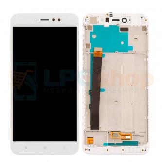 Дисплей для Xiaomi Redmi Note 5A Pro / Prime с тачскрином в рамке Белый - Оригинал LCD
