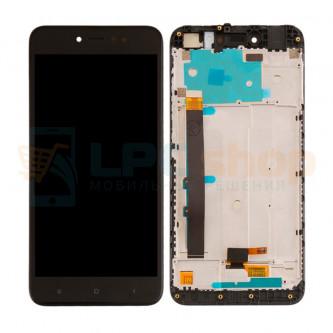 Дисплей для Xiaomi Redmi Note 5A Pro / Prime с тачскрином в рамке Черный - Оригинал LCD