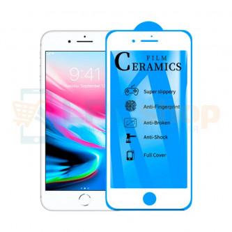 Защитная пленка Ceramics для iPhone 7 Plus / 8 Plus Белая Глянцевая