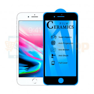 Защитная пленка Ceramics для iPhone 7 / 8 Черная Глянцевая