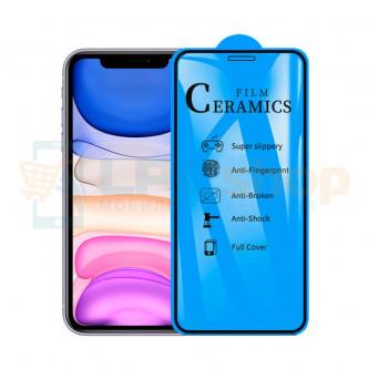 Защитная пленка Ceramics для iPhone Xr / 11 Черная Глянцевая