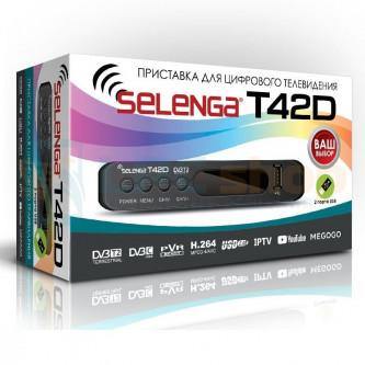 ТВ-приставка Selenga T42D (DVB-T2) HDMI + Тюльпаны