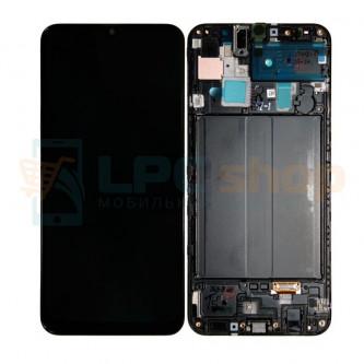Дисплей для Samsung A305F (A30) с тачскрином в рамке Черный - Оригинал