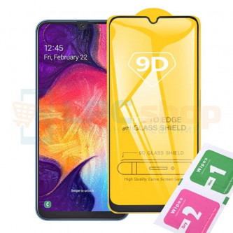 Защитное стекло (Полное покрытие) для Samsung A207F (A20s) Черное