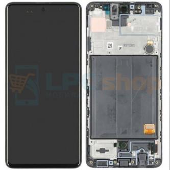 Дисплей для для Samsung A51 A515F c рамкой Черный - Оригинал