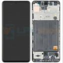 Дисплей для Samsung A51 A515F c рамкой Черный - Оригинал