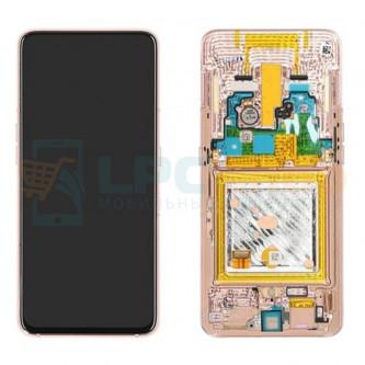 Дисплей для для Samsung A80 A805F c рамкой Золото - Оригинал