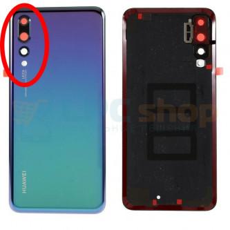 Крышка(задняя) Huawei P20 Pro Синяя (Twilight) с линзой камеры