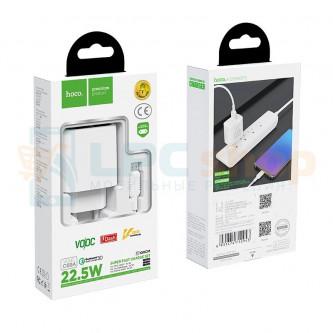 СЗУ USB Hoco C69A ( 2A, QС3.0) +кабель MicroUSB Белый