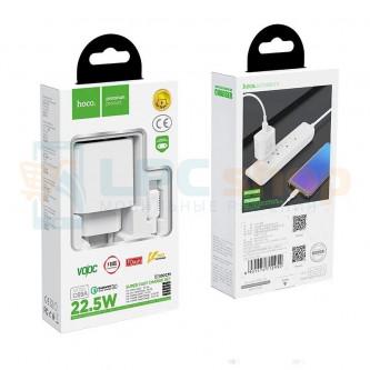 СЗУ USB Hoco C69A ( 2A, QС3.0) +кабель Type-C Белый