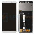 Дисплей для Xiaomi Redmi Note 5 / Note 5 Pro в сборе с тачскрином Белый - Оригинал LCD