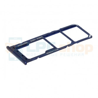 Лоток SIM для Samsung A10 A105F Синий