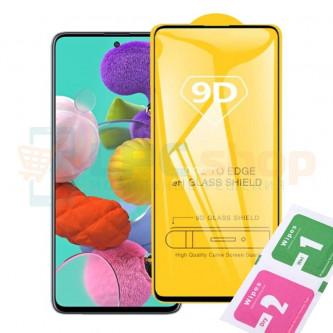 Защитное стекло (Полное покрытие) для Samsung A51 A515 Черное