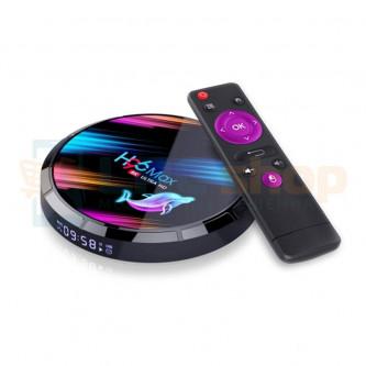 "Смарт-ТВ приставка (Android TV Box) ""H96 MAX X3 8K UHD"" (Amlogic S905X3 Cortex A55 / Android 9.0 / Wi-Fi 2.4 - 5G / USB 3.0 / HD"
